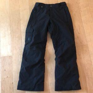 Men's Black Spyder Ski Pants Size M